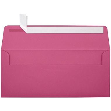 LUX Peel & Press #10 Square Flap Envelopes (4 1/8 x 9 1/2) 500/Box, Magenta (EX4860-10-500)