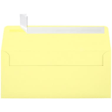 LUX Peel & Press #10 Square Flap Envelopes (4 1/8 x 9 1/2) 500/Box, Lemonade (EX4860-15-500)