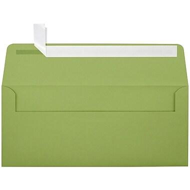 LUX Peel & Press #10 Square Flap Envelopes (4 1/8 x 9 1/2) 250/Box, Avocado Green (EX4860-27-250)