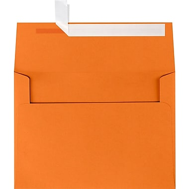 LUX A7 Invitation Envelopes (5 1/4 x 7 1/4) 50/Box, Mandarin (EX4880-11-50)