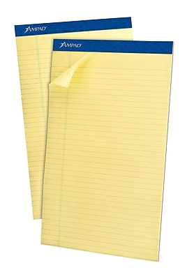 Ampad® Evidence® Ruled Pad 8-1/2x14
