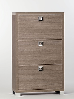 Sarmog 18-Pair Shoe Storage Cabinet; Gray Oak