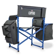 Picnic Time Fusion Chair; Los Angeles Clippers/Grey-Blue