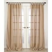 Saro Classic Solid Semi-Sheer Tab top Single Curtain Panel