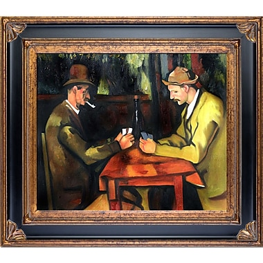 Tori Home Card Players w/ Pipes by Paul Cezanne Framed Painting Print