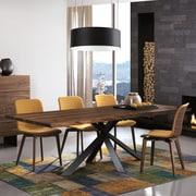 Bellini Modern Living Montana Dining Table; Gray