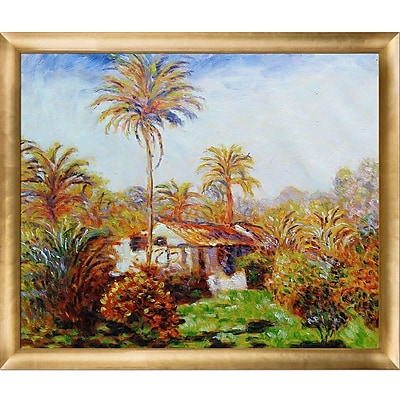 Tori Home 'Small Country Farm in Bordighera' by Claude Monet Framed Painting on Canvas