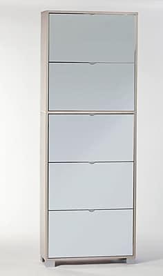 Sarmog 30-Pair Shoe Storage Cabinet; Clear Elm