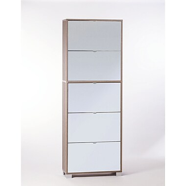 Sarmog 30-Pair Shoe Storage Cabinet; Gray Oak