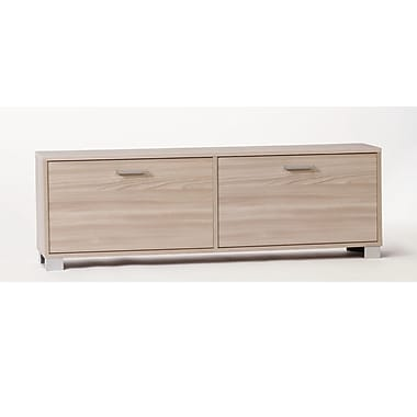 Sarmog 12-Pair Shoe Storage Cabinet; Clear Elm