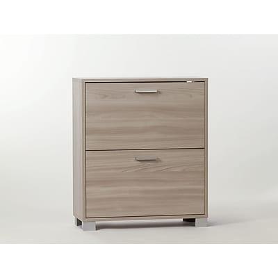 Sarmog 12-Pair Shoe Storage Cabinet; Clear Elm