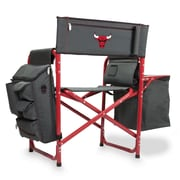 Picnic Time Fusion Chair; Chicago Bulls/Grey-Red