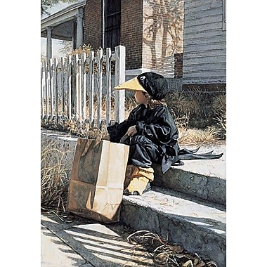HadleyHouseCo 'Little Black Crow' by Steve Hanks Painting Print