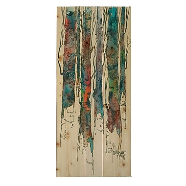 HadleyHouseCo ''Birch II'' by Cheri Greer Painting Print Plaque; 24'' H x 12'' W x 1.5'' D