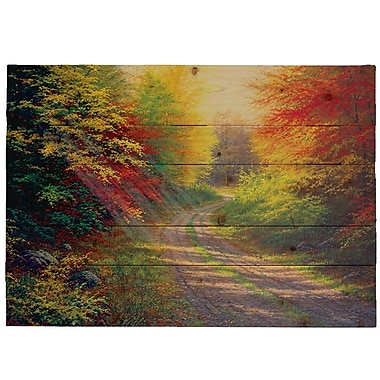 HadleyHouseCo ''October Light'' by Charles White Photographic Print Plaque; 9'' H x 12'' W x 2'' D