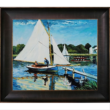 Wildon Home Sailing at Argenteuil by Claude Monet Framed Painting