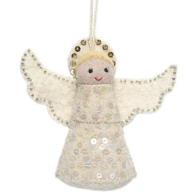 Arcadia Home Hand Felted Angel Ornament (Set of 2)