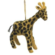 Arcadia Home Hand Felted Wool Giraffe Christmas Ornament (Set of 2)