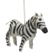 Arcadia Home Zebra Christmas Ornament (Set of 2)