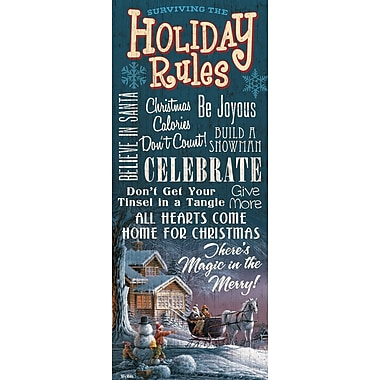 WildWings Surviving The Holiday Rules by Terry Redlin Textual Art