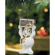 WildWings Terry Redlin ''Gathering of Friends'' Snowman Christmas Ornament