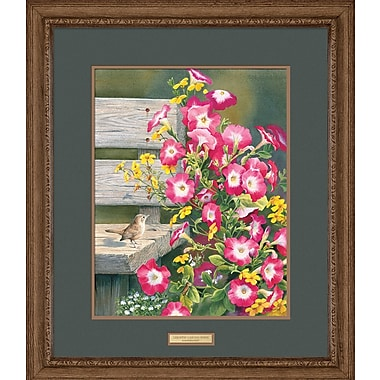 WildWings Country Garden - Wren by Susan Bourdet Framed Painting Print