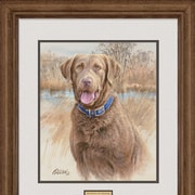 WildWings That's My Dog Too - Chesapeake by Jim Killen Framed Painting Print