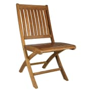 ChicTeak Santa Barbara Teak Folding Dining Side Chair (Set of 2)