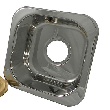Opella 12.2'' x 12.2'' Square Bar Sink; Polished Stainless Steel