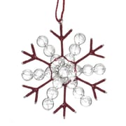 Arcadia Home Jute and Recycled Glass Bead Snowflake Christmas Ornament (Set of 3)