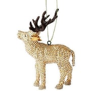 Arcadia Home Handmade Reindeer Christmas Ornament (Set of 2)