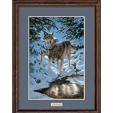 WildWings Icy Dawn by Persis Clayton Weirs Framed Painting Print