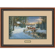 WildWings Holiday Sleigh Ride by Sam Timm Framed Painting Print