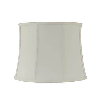 REMBRANDT 1640 16'' Fabric Bell Lamp shade; Creme