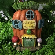 Hi-Line Gift Ltd. Fairy Garden Carrot House w/ Lights Statue