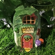 Hi-Line Gift Ltd. Fairy Garden Cabbage House w/ Lights Statue