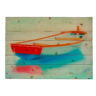 HadleyHouseCo 'Adrift' by Hal Halli Painting Print laque; 18'' H x 24'' W x 1.5'' D