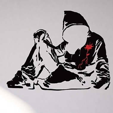 Style and Apply Banksy Bloody Hoodie Wall Decal; 29'' H x 39'' W