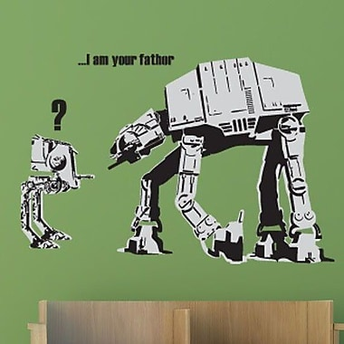 Style and Apply Banksy I am Your Father Wall Decal; 25'' H x 39'' W