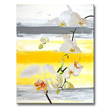 Ready2hangart 'Painted Petals XXVI' Painting Print on Wrapped Canvas; 30'' H x 20'' W x 1.5'' D