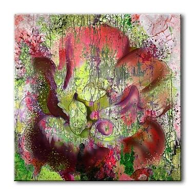Ready2hangart 'Painted Petals LVI' Painting Print on Wrapped Canvas; 30'' H x 30'' W x 1.5'' D