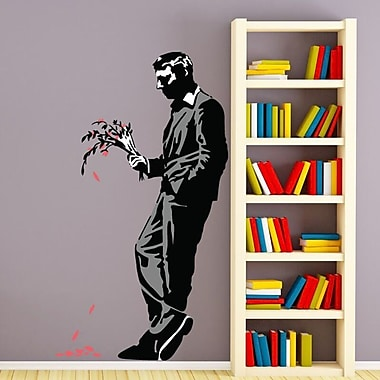 Style and Apply Banksy A Late Date Wall Decal; 29'' H x 16'' W