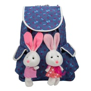 SumacLife Bunny Buddy Rucksack Style Kid's Backpack (Berry Blue)