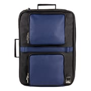 Lennca Quadra Blue Black Laptop Backpack Messenger Bag 15.4 Inch (LENLEA081)