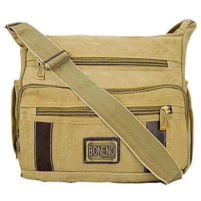 Vangoddy Principe Canvas Laptop Message Bag (Khaki)
