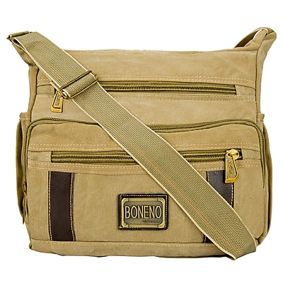 Vangoddy Principe Canvas Laptop Message Bag (Brown)