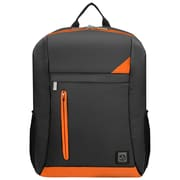 "Vangoddy Adler Laptop Backpack, Fits up to 15.6"" Laptop, Metallic Gray with Orange Trim"