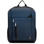 "Vangoddy Adler Laptop Backpack Fits up to 15.6"" Laptop Navy Blue with Black Trim"
