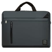 "Vangoddy Adler Laptop Shoulder Bag 15.6"" (Metallic Gray with Black Trim)"