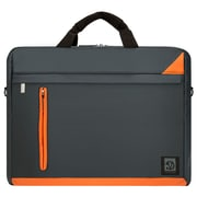 "Vangoddy Adler Laptop Shoulder Bag 15.6"" (Black with Orange)"